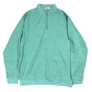 Peter Millar NEW Sweater Large 1/4 Zip Green Sz XL